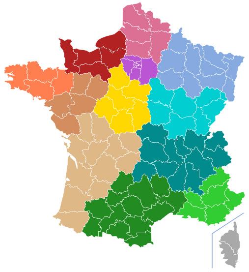 Новое деление Франции на регионы
