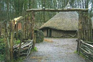 Кельтское поселение II в. до н.э.. Реконструкция