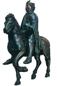 Конная статуя Карла Великого. Бронза. Около 870 г.