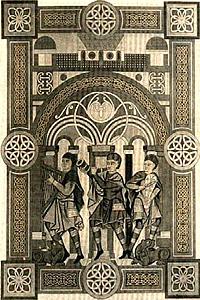 Музыканты. Миниатюра из рукописи XI в.