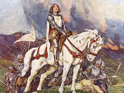 Жанна д'Арк на пути к Парижу в ходе Столетней войны (1429 г.)