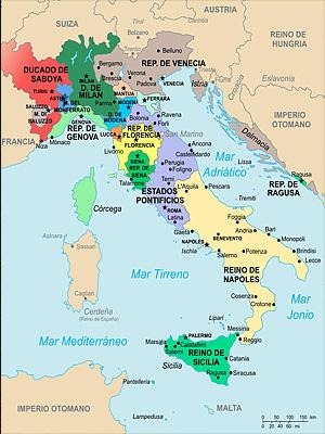 �талия в 1494 году накануне �тальянских войн