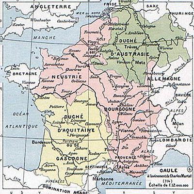 Государственные образования в составе Франкского королевства (VII век)