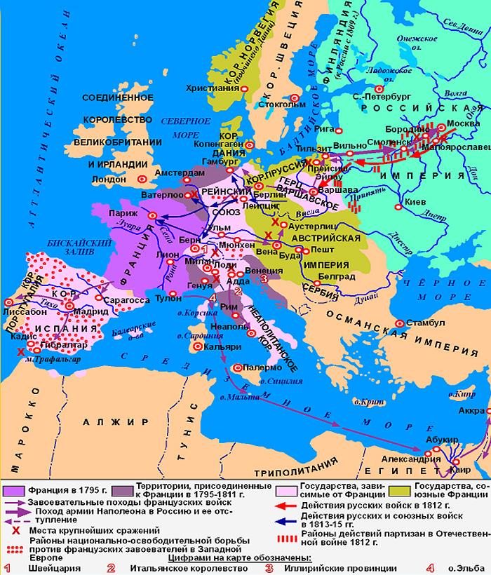 Военные действия Наполеона в Европе (1799- 1815 г.г.)