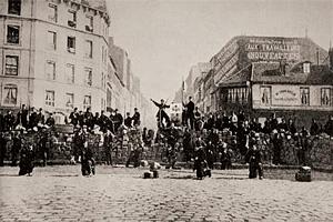Баррикады в Париже в 1851 г.
