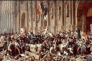 Манифестации в Париже в 1870 г.