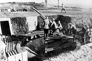 Первая мировая война. Французская артиллерия на западном фронте