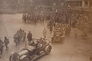 Парад во Франции после Первой мировой войны. 1918 г.