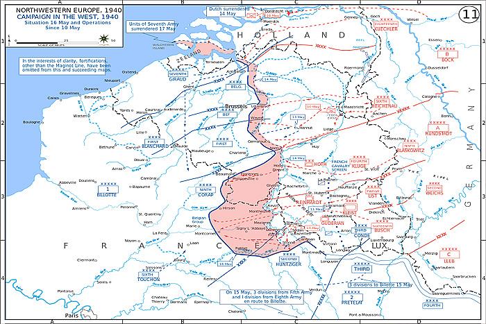 Вторжение немецких войск на территорию Франции в 1940 году