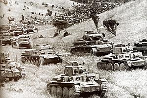 Немецкие танки группы Клейста переходят Арденны