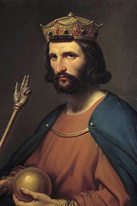 Средний внук Карла Великого - Людовик Немецкий (король Восточно-Франкского королевства)