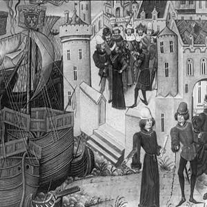 Французские корабли в Слёйсе перед битвой