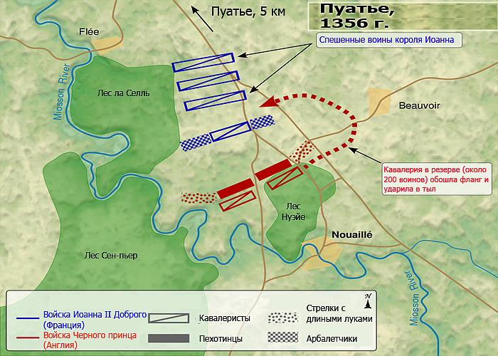 Битва при Пуатье (1356 г.): расстановка сил