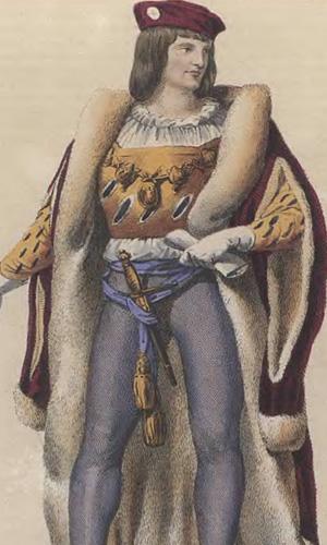 Битва при Азенкуре (1415 г.). Шарль  герцог Орлеанский - один из командиров французской армии