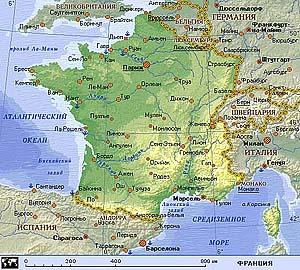 Географическое положение Франции