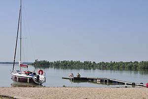 Яхта на озере Орьен (Шампань-Арденны)
