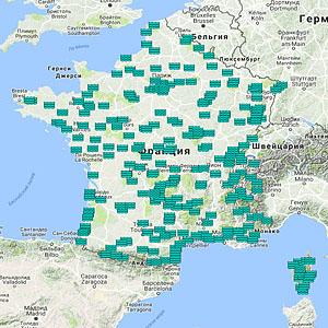 Карта озер Франции