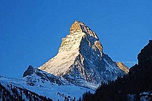 Гора Монблан - высочайшая точка Франции и Западной Европы
