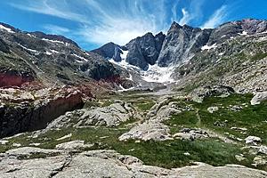 Ледниковый цирк в Пиренеях