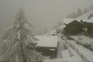 Снегопад в Альпах