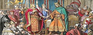 Распад империи Каролингов (IX в.в.)