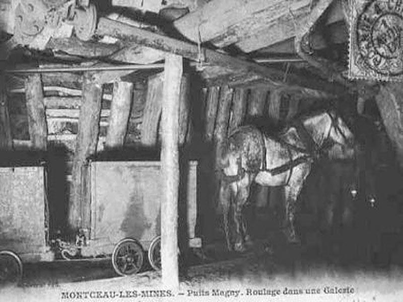 Угольная шахта во Франции в XIX веке