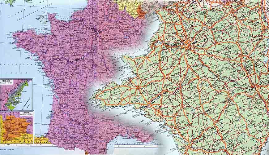 Карты Франции