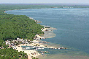 Озеро Казо э Сангуине (Аквитания, Жиронда)