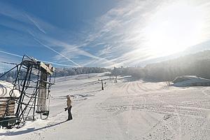 Горнолыжная трасса Ecole du Ski Francais. Озеро Перш у Стернсе (Эльзас)