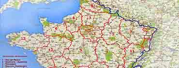 Административно-политическая карта Франции (карта регионов Франции)