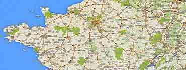 Карта автомобильных дорог Франции