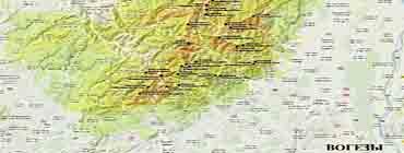 Вогезы на карте