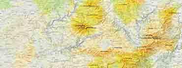 Центральный массив на карте
