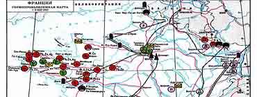 Горнопромышленная карта Франции