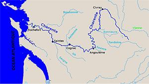 Бассейн Шаранты  на карте