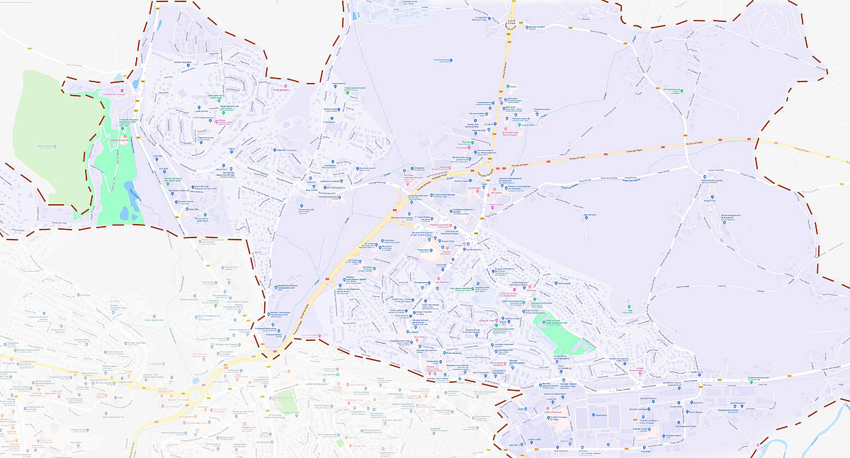 Оне-ле-Шато (Onet-le-Chateau): карта города