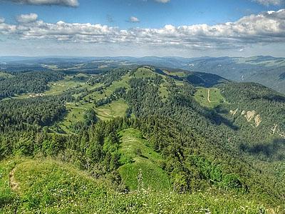 Гора Кре де Шалам (Crêt de Chalam): 1545 м