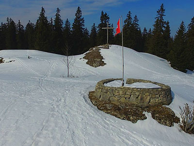 Гора Кре де ла Нёв (Crêt de la Neuve): 1494 м