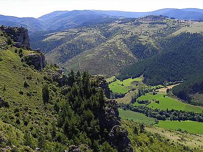 Центральный массив, Франция (панорама)