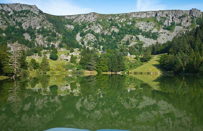 Озеро  Труит у дю Форле (Верхний Рейн, Эльзас)