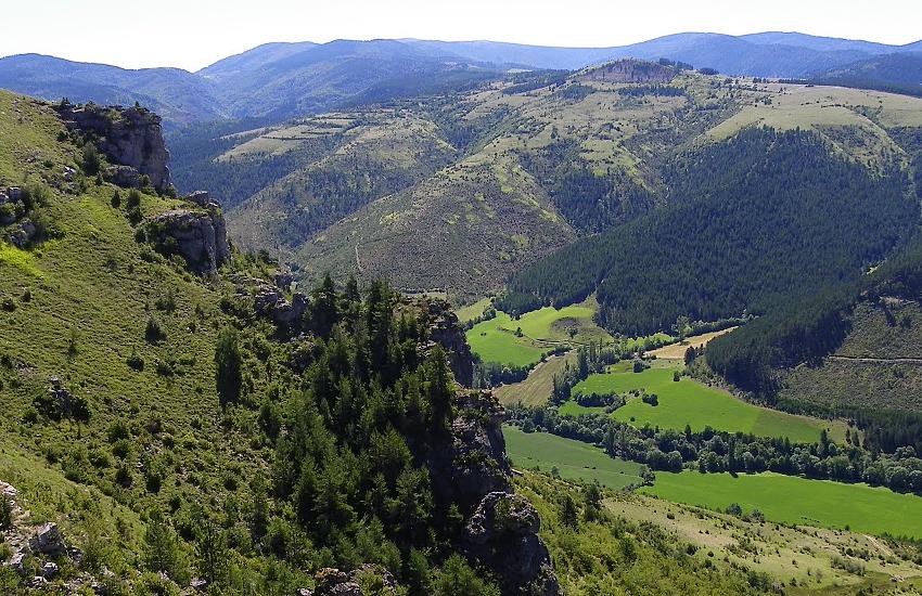 Центральный массив, Франция. Панорама