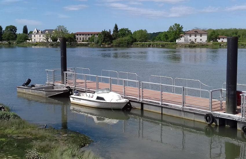 Река Адур (Adour) в нижнем течении