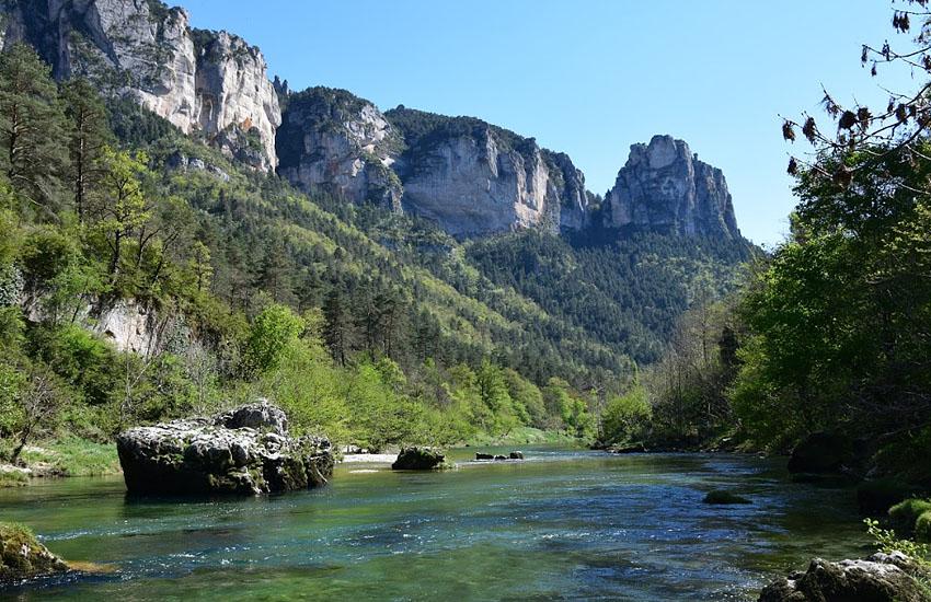 Река Тарн (Tarn) в верхнем течении