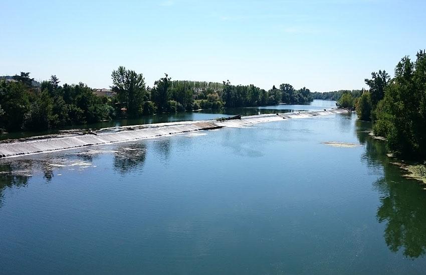 Река Тарн (Tarn) в нижнем течении