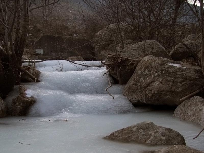 Река Ардеш (Ardeche) зимой