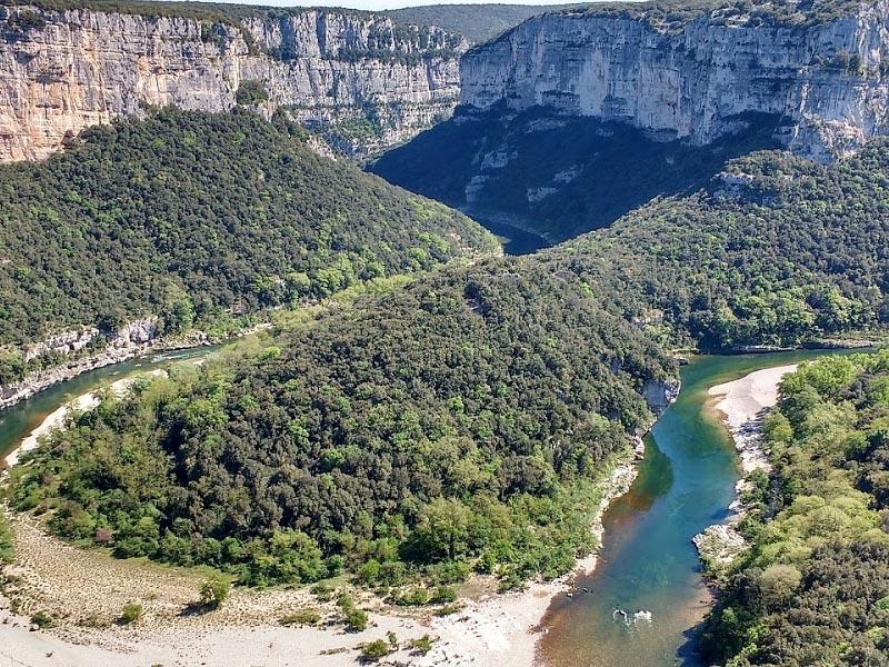 Река Ардеш (Ardeche) в нижнем течении