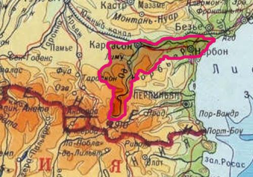 Бассейн реки Од на карте