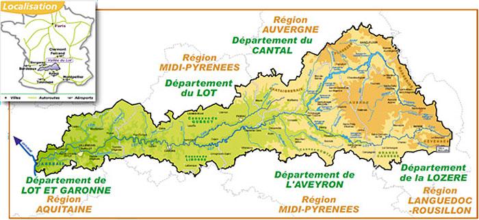 Бассейн реки Ло на карте