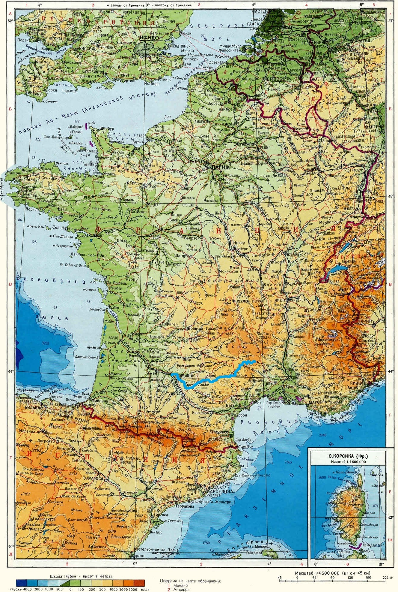 Река Тарн (Tarn) на карте