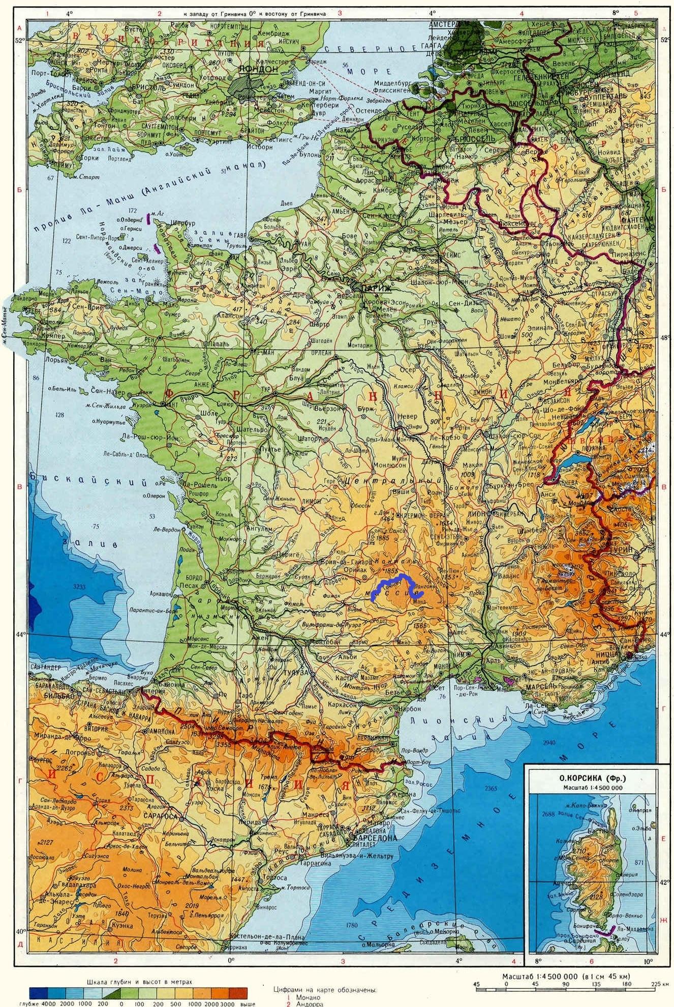 Река Трюйер (Truyère) на карте